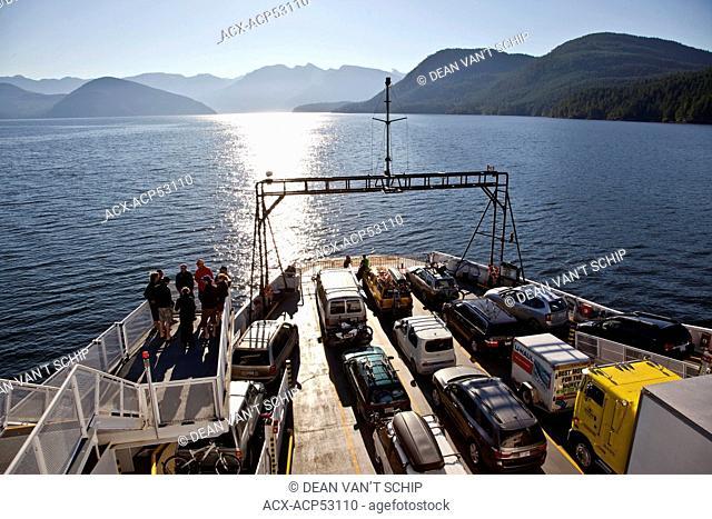 Island Sky Ferry, Summer Morning, Jervis Inlet, Sunshine Coast, B.C., Canada