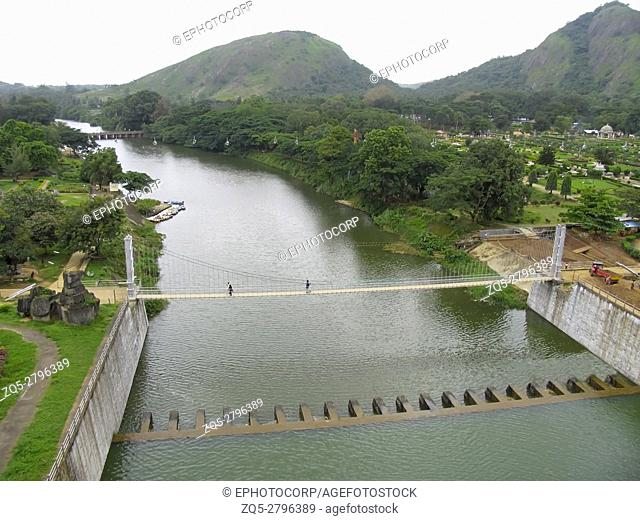 Malampuzha bridge and garden, Kerala, India