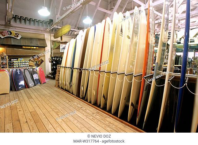 surf shop, pismo beach, california, usa