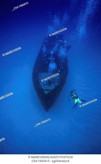 Shipwreck  TUG II, Mauritius, Indian Ocean