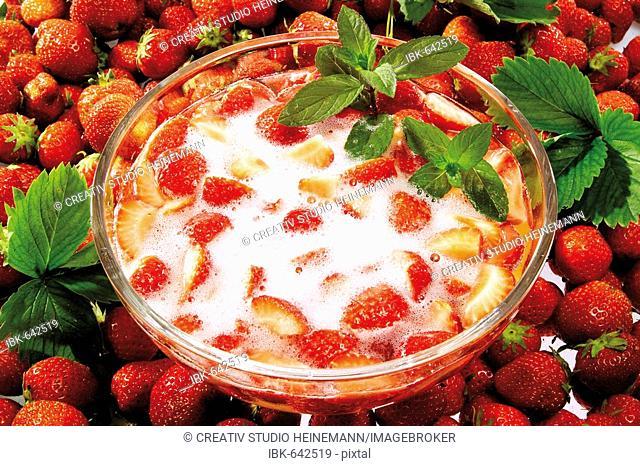 Strawberries, strawberry punch