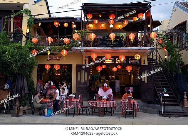 restaurant with handcrafted lanterns  Hoi An, Vietnam, Asia