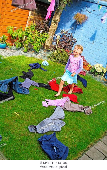 clothes on grass