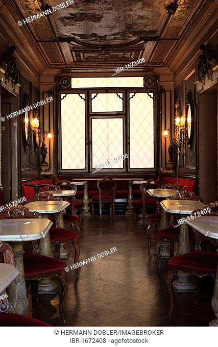 Cafe Florian, Piazza San Marco or St. Mark's Square, Venice, Veneto, Italy, Europe