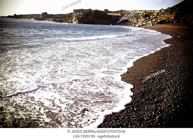 Beach El Verodal, El Hierro, Canary Islands, Spain