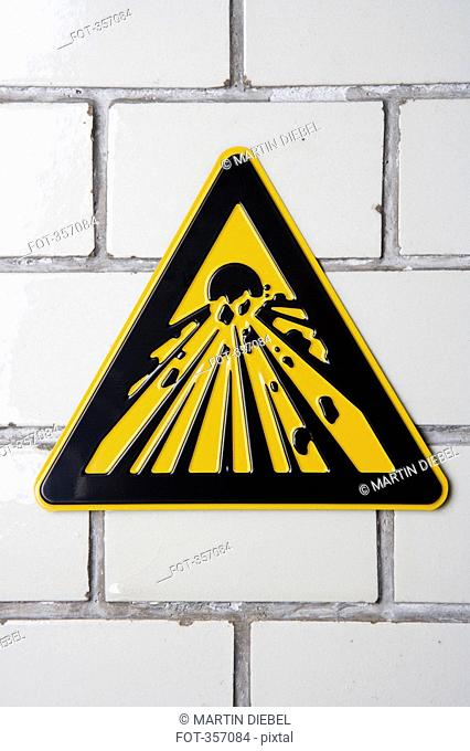 Explosive' warning sign