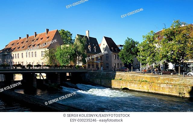 District of Strasbourg at summer day, France