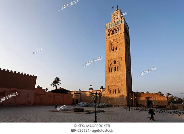 Minaret of the Koutoubia mosque, Marrakech, Morocco, Africa