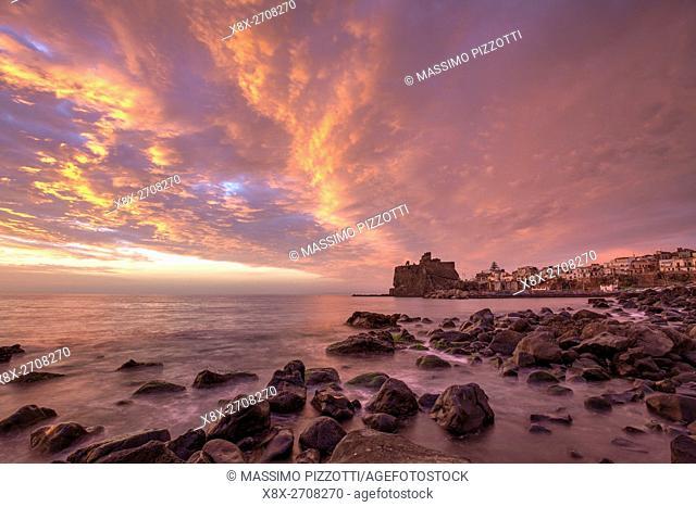 The Norman Castle of Aci Castello, Sicily, Italy