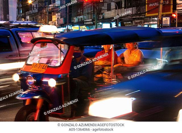 Traffic in Bangkok, Thailand, Southeast Asia