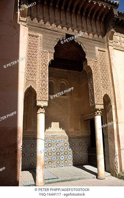 The Tombs of Saadiens in Marrakech Morocco