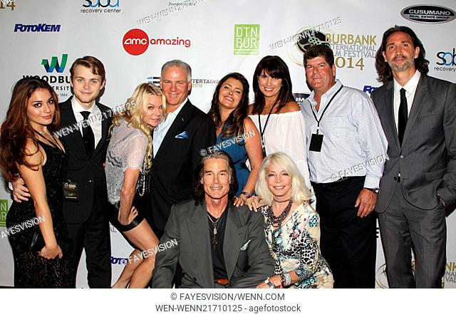 Closing Night of The Burbank International Film Festival 2014 Featuring: Riana Nicolayseh. Tanner Cusumano. Caroline & Mike Cusumano. Ronn Moss