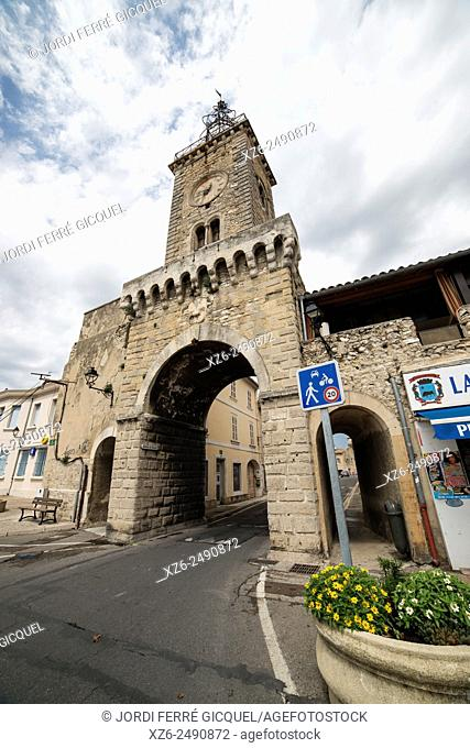 The gate of the city, Le Thor, Vaucluse, 84, Provence-Alpes-Côte d'Azur, France, Europe