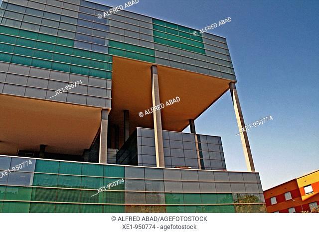 Building in works, Zona Franca, Barcelona, Catalonia, Spain