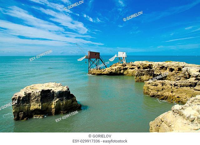 fishing hut in saint palais sur mer
