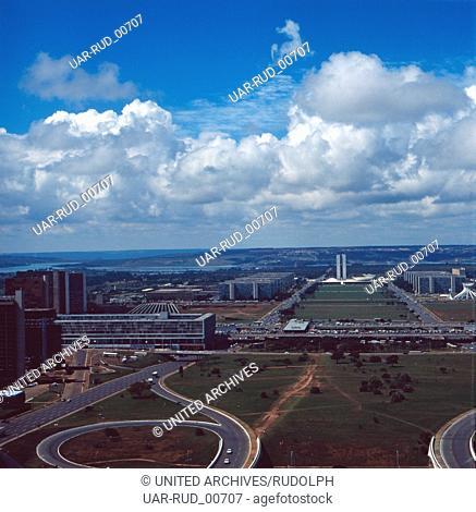 Eine Reise nach Brasília, Brasilien 1980er Jahre. A trip to Brasília, Brazil 1980s