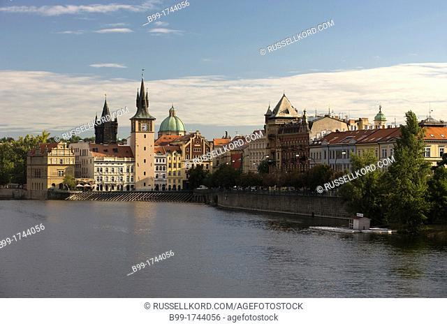 Smetana Museum Old Water Tower Vltava River Old Town Mala Strana Prague Czech Republic