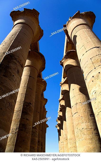 The Colonnade, Luxor Temple, Luxor, Egypt
