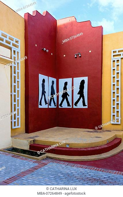 Cuba, Santa Clara, facade, Beatles