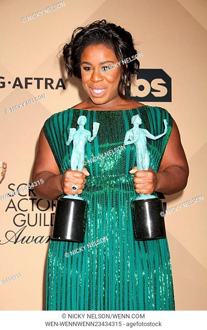 22nd Annual Screen Actors Guild Awards at The Shrine Expo Hall - Press Room Featuring: Uzo Aduba Where: Los Angeles, California