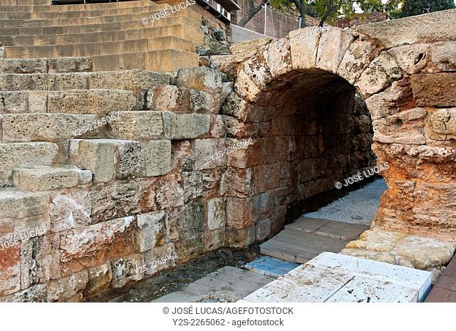 Roman theater - vomitorium, Malaga, Region of Andalusia, Spain, Europe