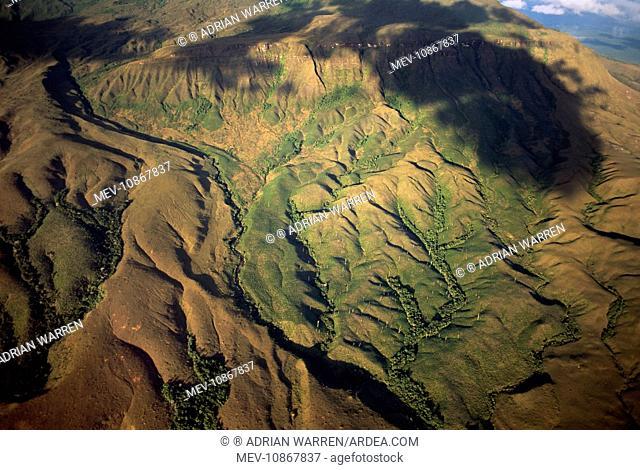 Venezuela aerials of Tepuis. South America: Gran Sabana, Venezuela