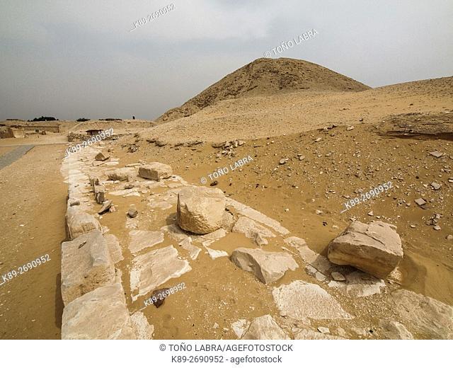 Teti Pyramid. Archeological remains. Saqqara necropolis. Egypt