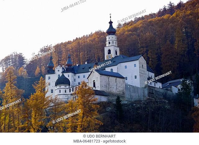 Italy, South Tirol, Vinschgau, Mals, Burgeis, Benedictine cloister Marienberg