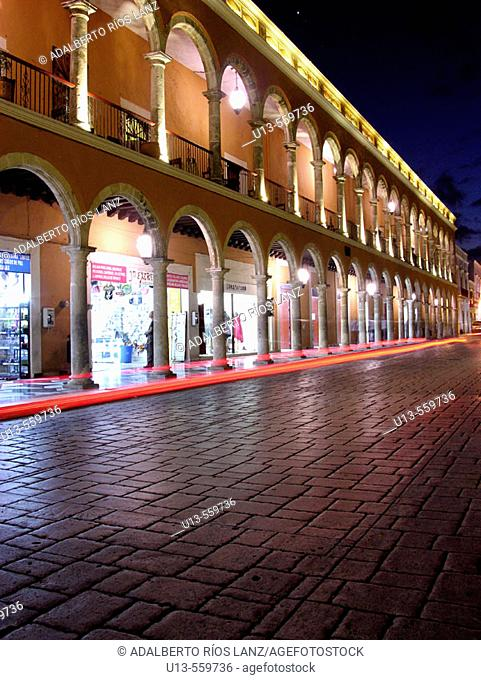 Campeche old town. World Heritage. Mexico