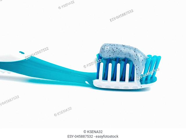 toothbrush on white background