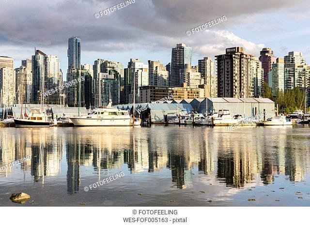 Canada, British Columbia, Vancouver, Boats in marina