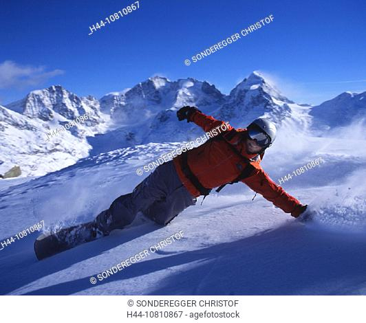 Alps, backdrop, Piz Bernina, Engadin, Grisons, Graubunden, massif, Piz Morteratsch, mountains, Piz Roseg, ski, snow