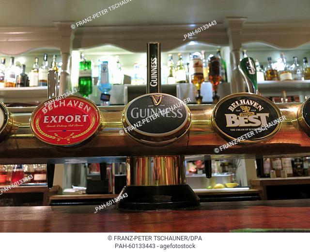Spigots in a pub near Bristol, Great Britain, 19 June 2014. Photo:Franz-Peter Tschauner/dpa - NO WIRESERICE- | usage worldwide
