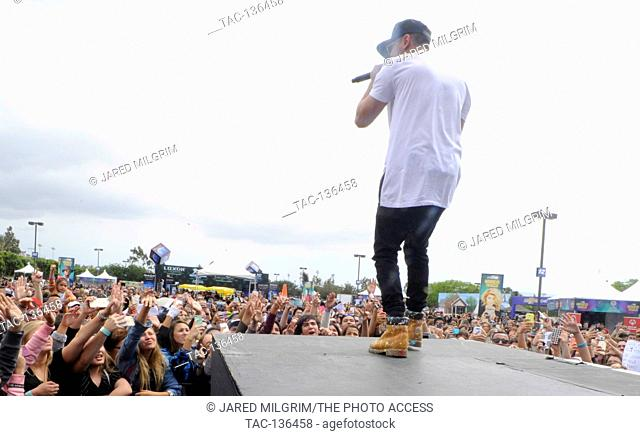 Jake Miller performs live concert at the 2015 KIIS FM Wango Tango Village Stage at the StubHub Center on May 9th, 2015 in Carson, California