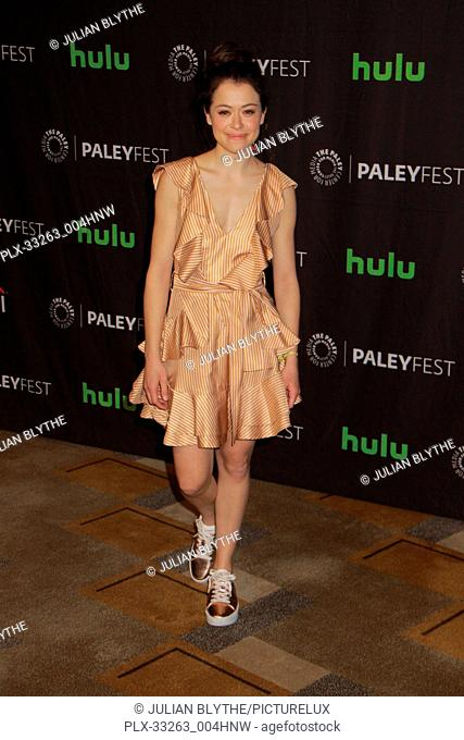 """Tatiania Maslany 03/23/2017 PaleyFest 2017 """"""""Orphan Black"""""""" held at The Dolby Theatre in Hollywood, CA Photo by Julian Blythe / HNW / PictureLux"""