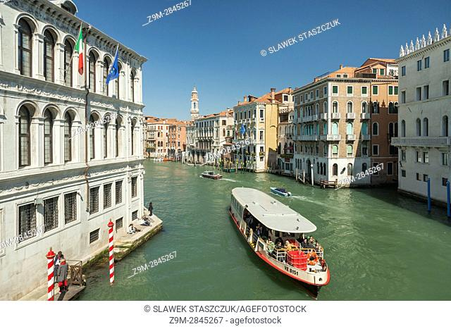 Vaporetto on Grand Canal, Venice, Italy