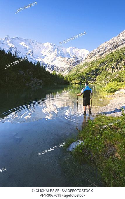 Aviolo lake in Adamello park, Brescia province, Lombardy, Italy