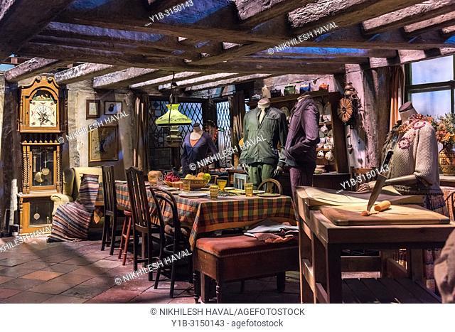 The Burrow, Weasley house, Making of Harry Potter, Warner Bros. Studio Tour, Leavesden, London