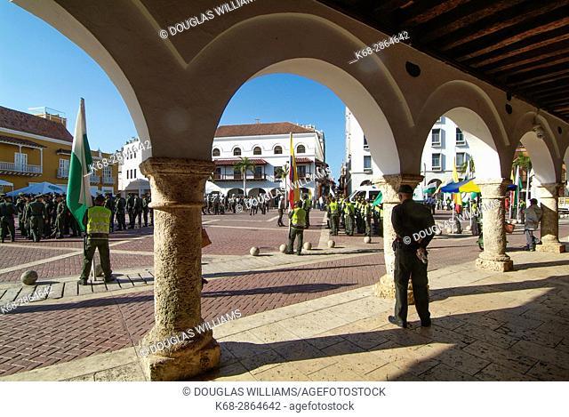 Plaza de la Aduana in Cartagena, Colombia