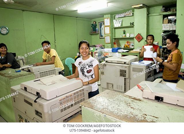 Photocopy shop, Iloilo, Panay, Philippines