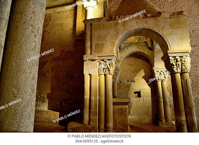 Interior of the monastery of San Juan de Duero, Soria, Spain