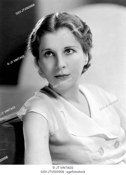 Diana Wynyard, English Film and Stage Actress, Portrait, circa 1933