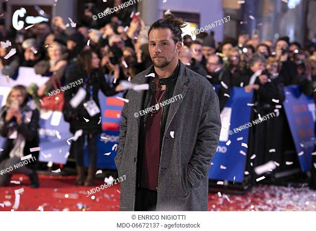 Enrico Nigiotti on the Red Carpet of the 69th Sanremo Music Festival. Sanremo (Italy), Fabruary 4th, 2019