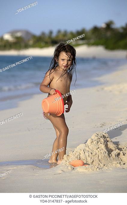Playing in the beach, Cabbage Beach, New Providence Island, Paradise Island, Bahamas