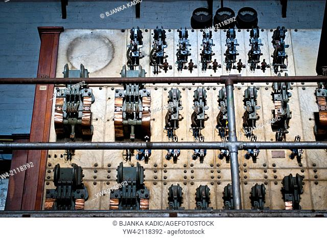 Ruwolt industrial machinery from the first half of 20th century, Cockatoo Island, Sydney, Australia