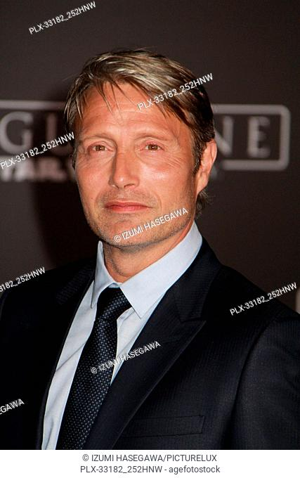 "Mads Mikkelsen 12/10/2016 The World Premiere of """"Rogue One: A Star Wars Story"""" held at the Pantages Theatre in Los Angeles"