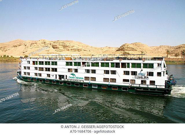 Cruise on nile river , egyptian