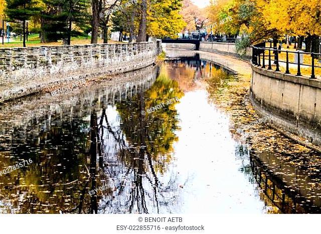 Autumn Montreal Lachine Canal Landscape