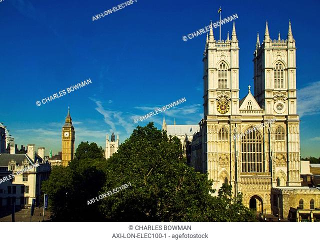 View of Westminster Abbey and Big Ben in the distance