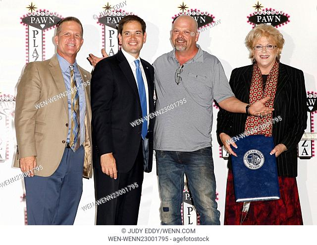 Rick Harrison Celebrates The Grand Opening of Pawn Plaza With Presidential Candidate Sen. Marco Rubio, City of Las Vegas Mayor Carolyn Goodman Featuring: Lt Gov...